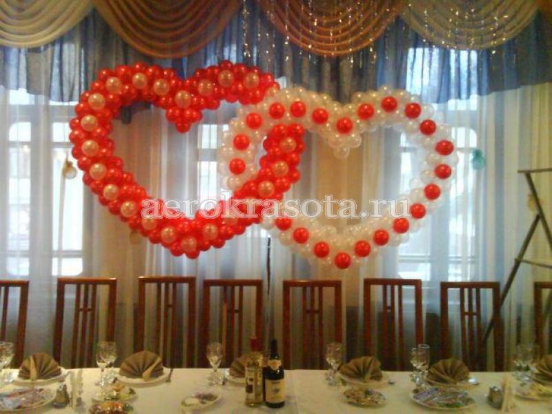 Сердца из шаров на свадьбу своими руками фото