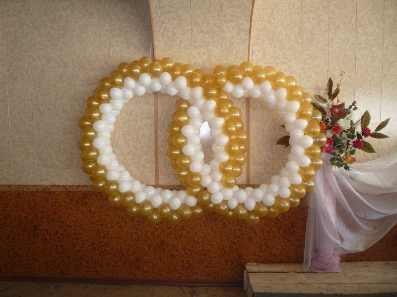 Кольца на свадьбу из шаров своими руками